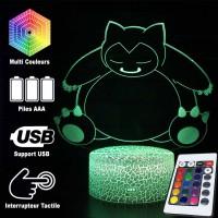 Lampe 3D Pokémon Ronflex caractéristiques