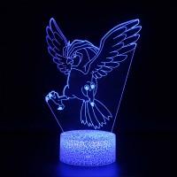 Lampe 3D Pokémon Roucoups