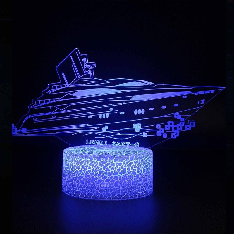 Lampe 3D Yacht bateau