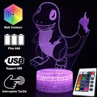 Lampe 3D Pokémon Salamèche caractéristiques
