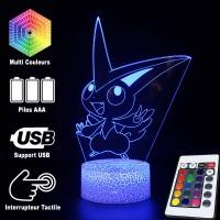 Lampe 3D Pokémon Victini caractéristiques