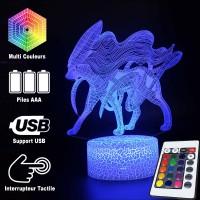 Lampe 3D Pokémon Suicune caractéristiques