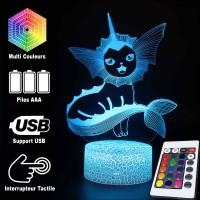 Lampe 3D Pokémon Aquali caractéristiques