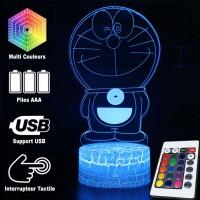 Lampe 3D Doraemon caractéristiques