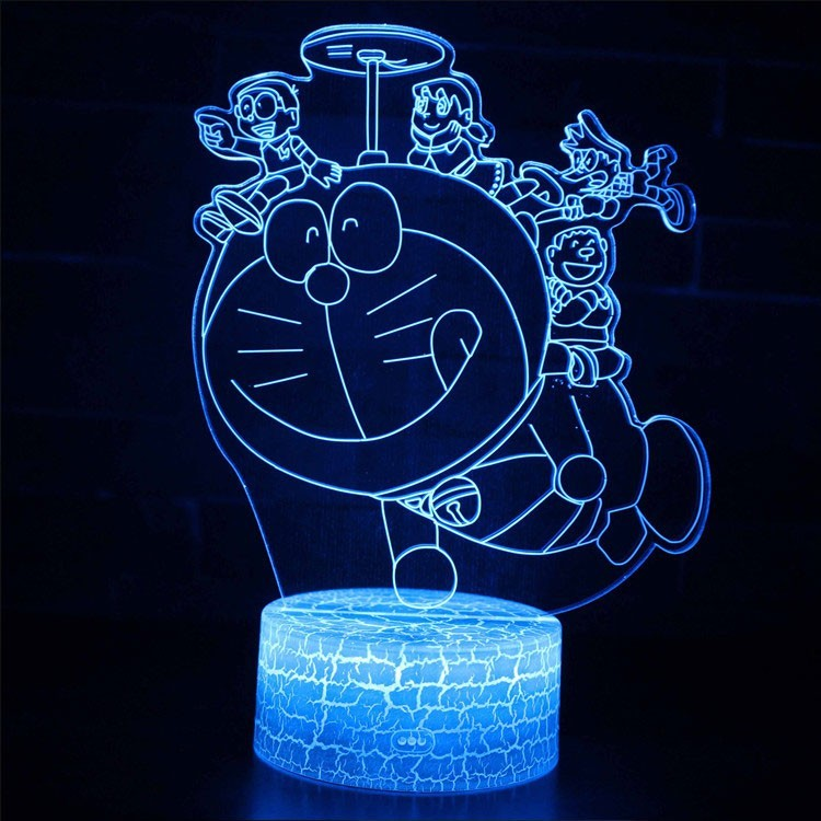 Lampe 3D Doraemon avec enfants