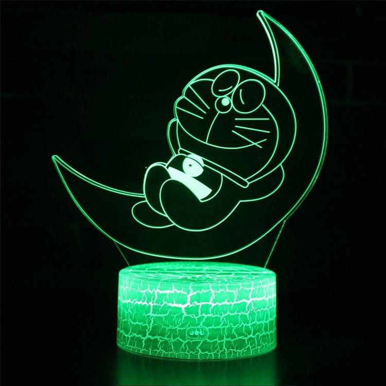 Lampe 3D Doraemon sur la lune