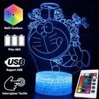 Lampe 3D Doraemon avec enfants caractéristiques