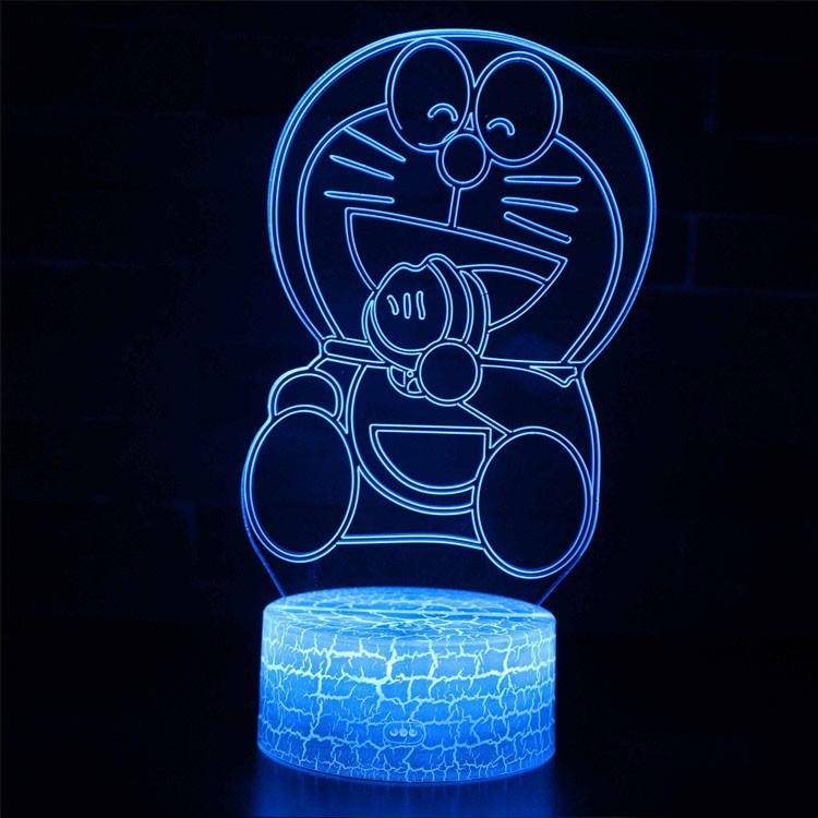 Lampe 3D Doraemon qui mange
