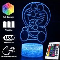 Lampe 3D Doraemon qui mange caractéristiques