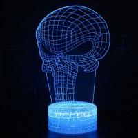Lampe 3D Punisher Logo