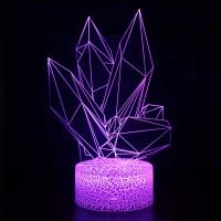 Lampe 3D Illusion d'Optique Diamants