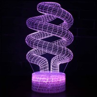 Lampe 3D Illusion d'Optique Spirales