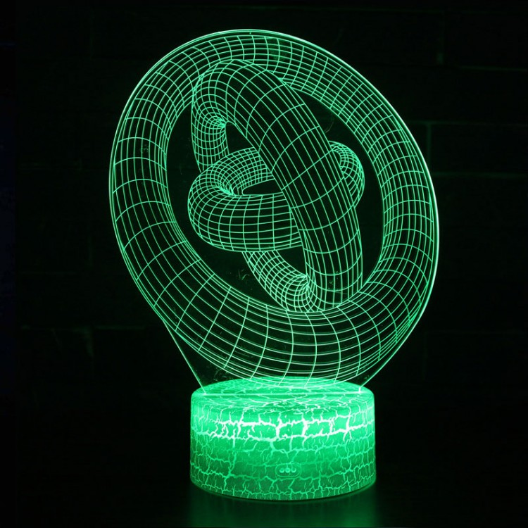 Lampe 3D Illusion d'Optique