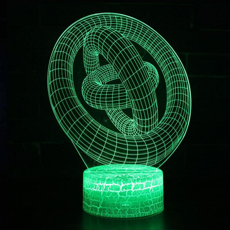 Lampe 3D Illusion d'Optique Cercles