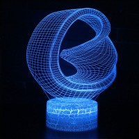 Lampe 3D Illusion d'Optique Looping vrille