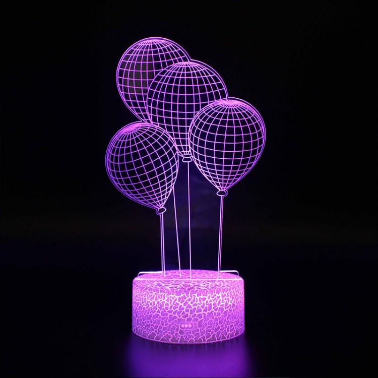 Lampe 3D Illusion d'Optique Ballons