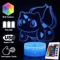 Lampe 3D Pokémon Bulbizarre caractéristiques