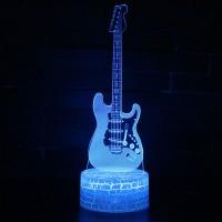 Lampe 3D Musique Guitare électrique