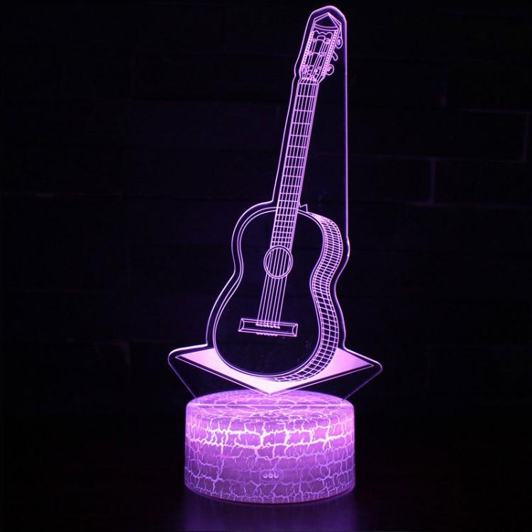 Lampe 3D Musique Guitare acoustique
