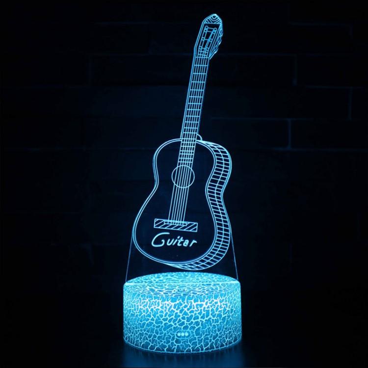 Lampe 3D Musique Guitare acoustique 2