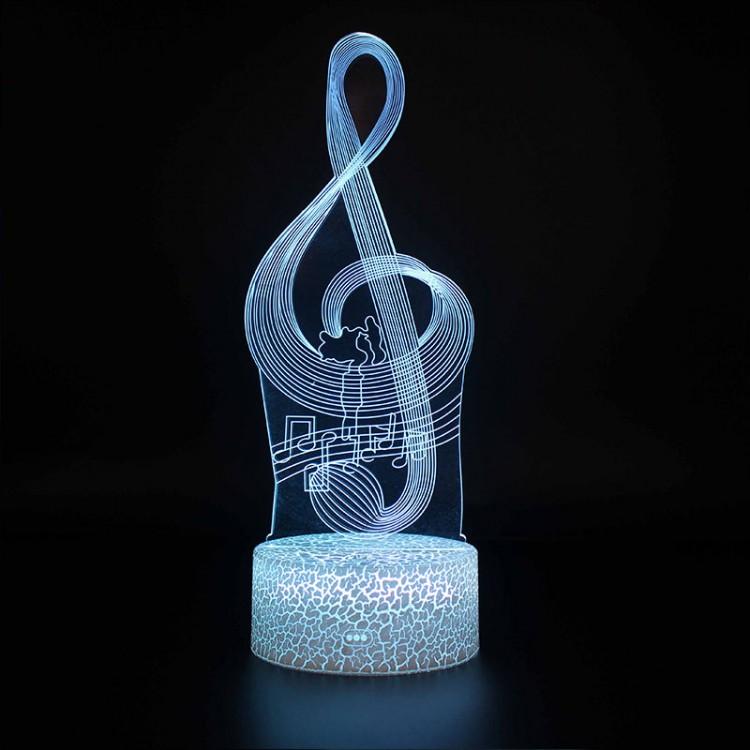 Lampe 3D Musique Clé de Sol et notes