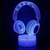 Lampe 3D Musique Casque Audio