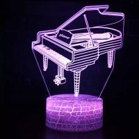Lampe 3D Musique Piano à queue