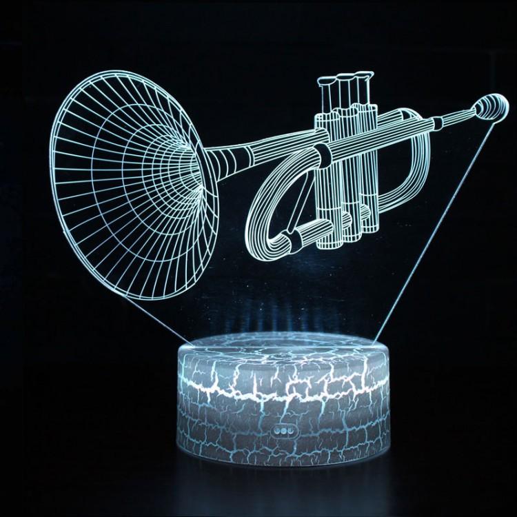 Lampe 3D Musique Trompette