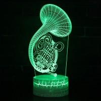 Lampe 3D Musique Cor d'harmonie
