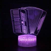 Lampe 3D Musique Accordéon