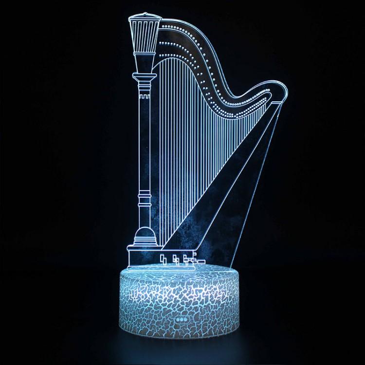 Lampe 3D Musique Harpe