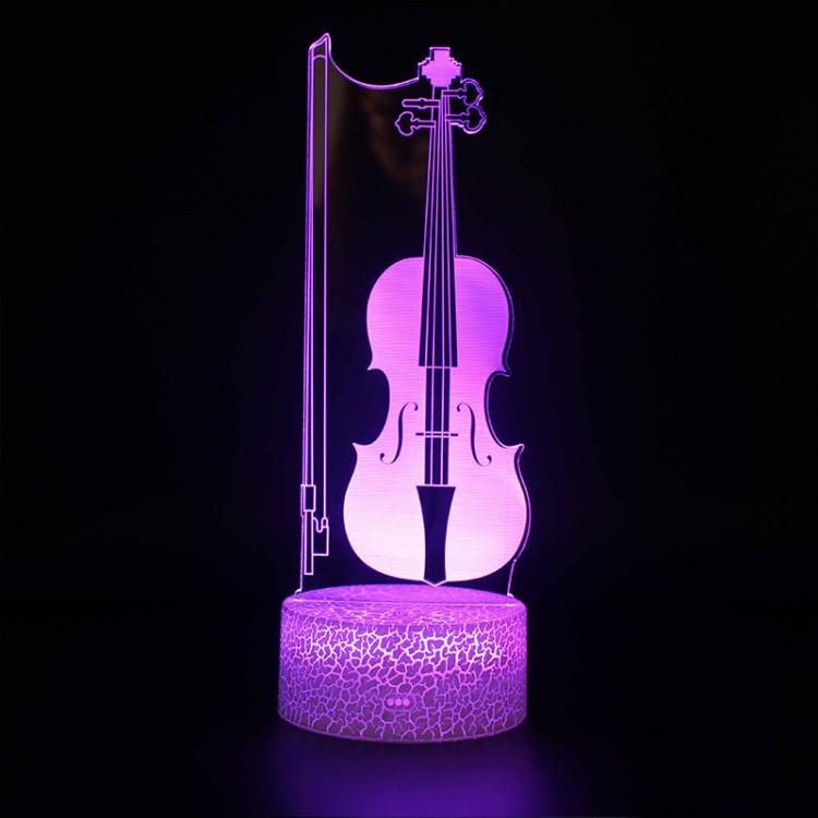 Lampe 3D Musique Violon et Archet