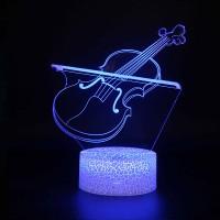 Lampe 3D Musique Violon et Archet 2
