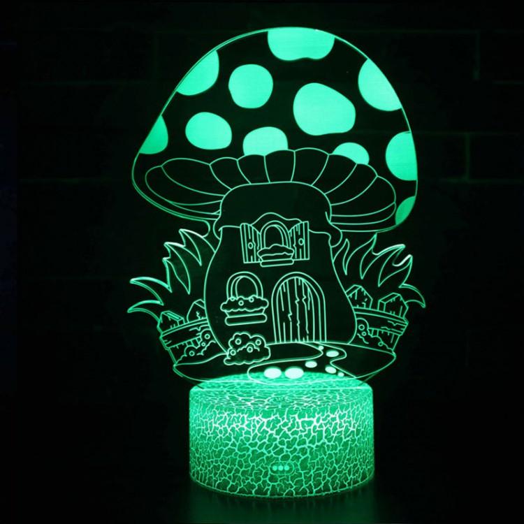 Lampe 3D Champignon maison