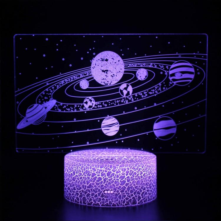 Lampe 3D Planètes