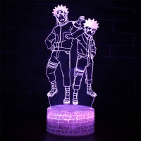 Lampe 3D Naruto et son double maléfique
