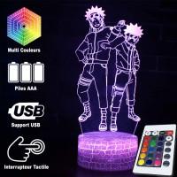 Lampe 3D de Naruto et son double maléfique caractéristiques