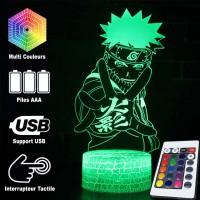Lampe 3D de Naruto caractéristiques