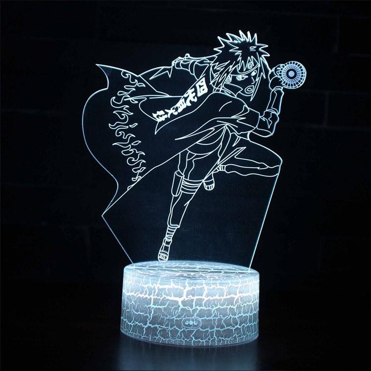 Lampe 3D Minato Namikaze Orbe Tourbillonnant