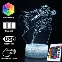 Lampe 3D Minato Namikaze Orbe Tourbillonnant caractéristiques