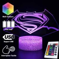 Lampe 3D Batman V Superman, Caractéristiques et télécommande