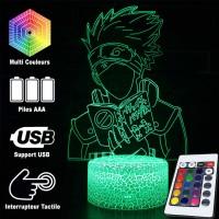 Lampe 3D Kakashi Hatake livre caractéristiques