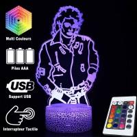 Lampe 3D Musique Michael Jackson, télécommande et caractéristiques