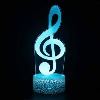 Lampe 3D Musique Clé de Sol