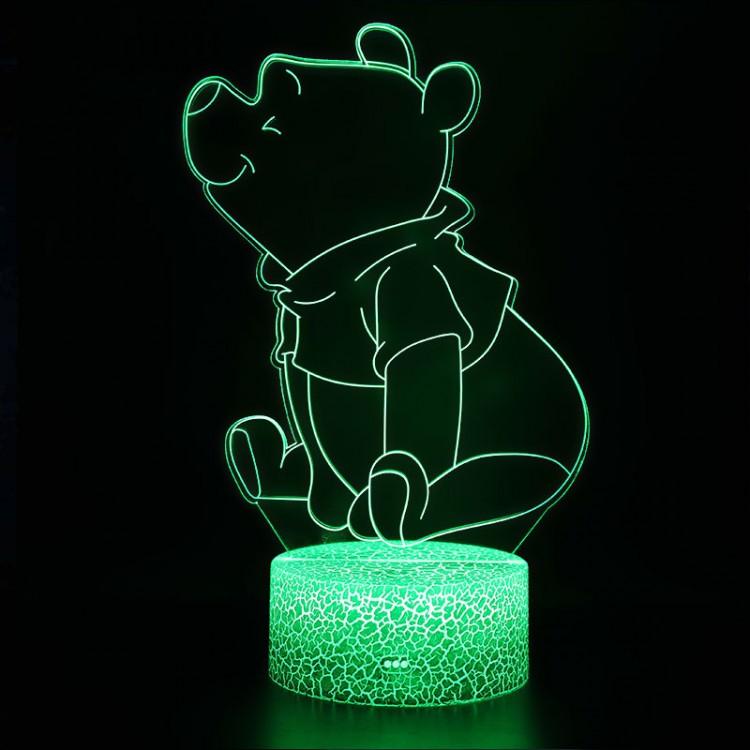 Lampe 3D Winnie l'Ourson assis
