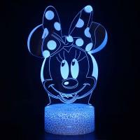 Lampe 3D Minnie et son noeud
