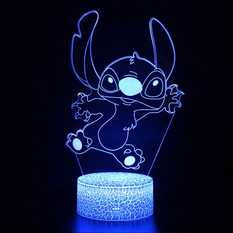 Lampe 3D de Stitch qui saute