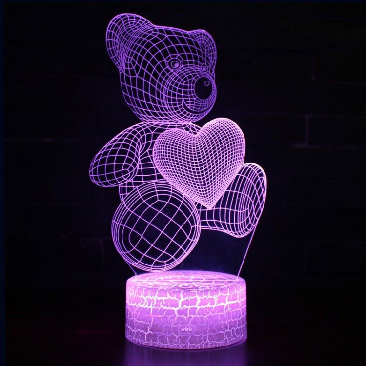 Lampe 3D Amour