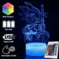 Lampe 3D Sangoku enfant caractéristiques