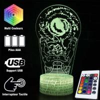 Lampe 3D Sangoku boule d'énergie caractéristiques